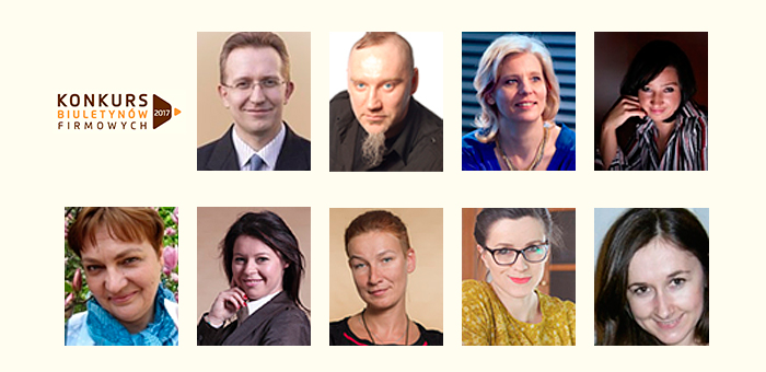 Jury Konkursu Biuletynów Firmowych 2017